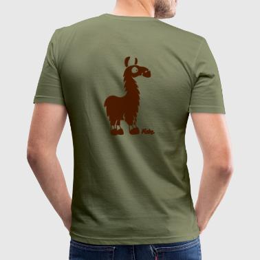 Lama (c) - Männer Slim Fit T-Shirt