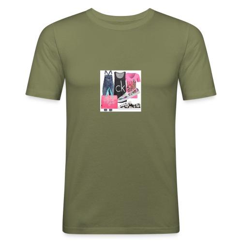 outfit pace e amoreio amo il colore - Maglietta aderente da uomo