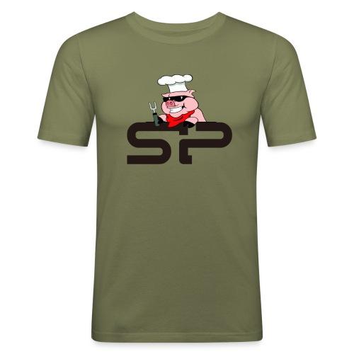 Strangepig's first logo - Slim Fit T-skjorte for menn