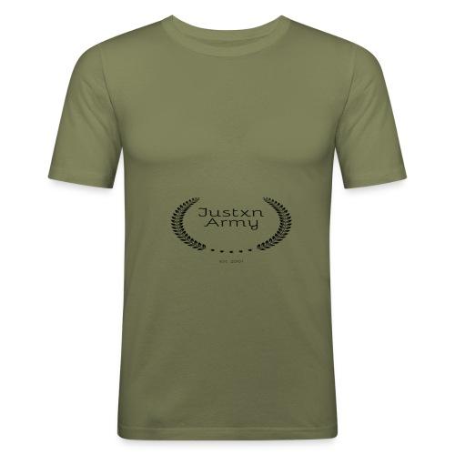 Justxn-Army - Männer Slim Fit T-Shirt