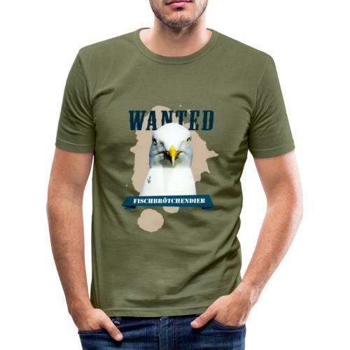 WANTED - Fischbrötchendieb - Männer Slim Fit T-Shirt