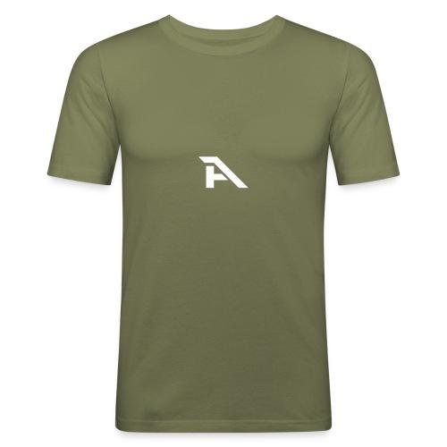 Aura Logo-(P. & White) - Maglietta aderente da uomo
