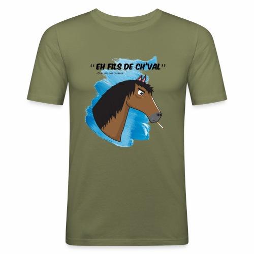 EH FILS DE CH'VAL Bleu - T-shirt près du corps Homme