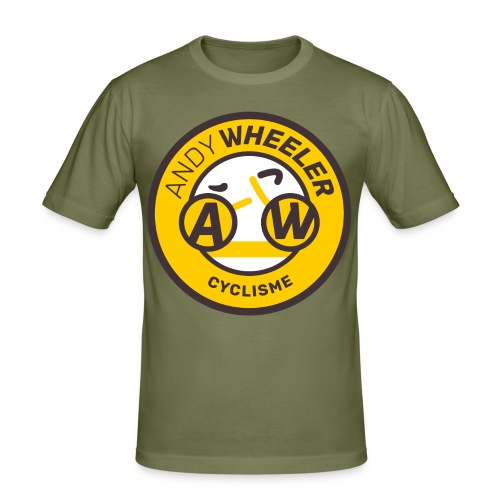 AW CYCLISME logo 1 - T-shirt près du corps Homme