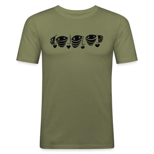 Faces On Faces Illustration 1 - Men's Slim Fit T-Shirt