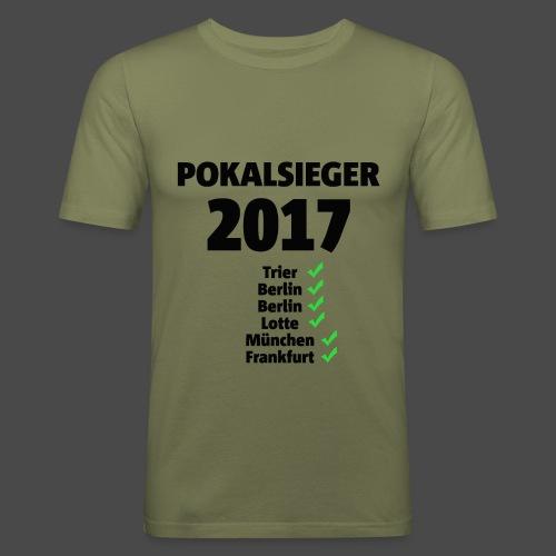 Pokalsieger 2017 schwarz - Männer Slim Fit T-Shirt