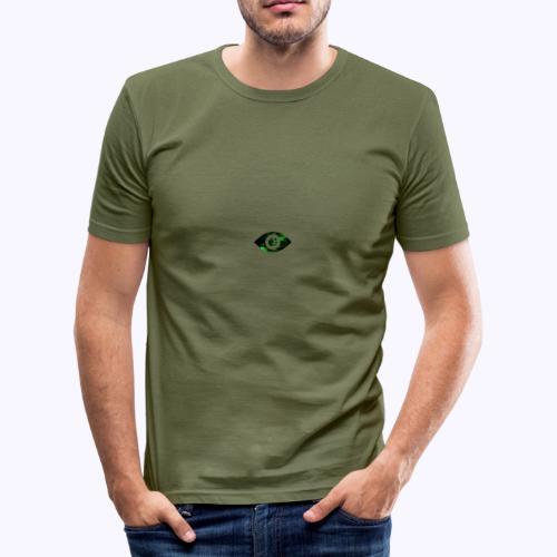 Occhio del destino verde - Maglietta aderente da uomo