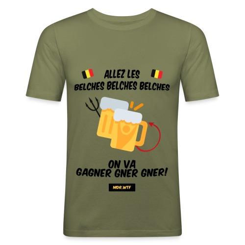 Allez les belches! - T-shirt près du corps Homme