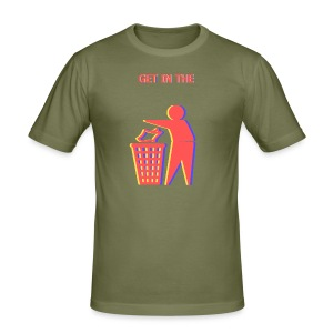 Get in the Bin! - Men's Slim Fit T-Shirt