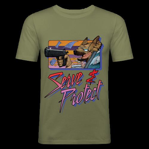 Gun Dog - Serve and protect - napis - Obcisła koszulka męska