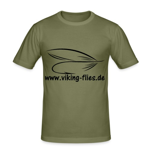 Viking Flies - Männer Slim Fit T-Shirt