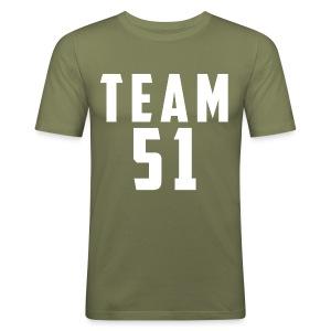 Logo team 51 modern - Tee shirt près du corps Homme