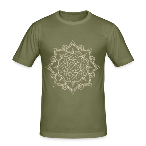 Manos mandala - Männer Slim Fit T-Shirt