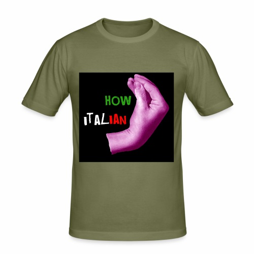 How italian / Meme italiano - Maglietta aderente da uomo