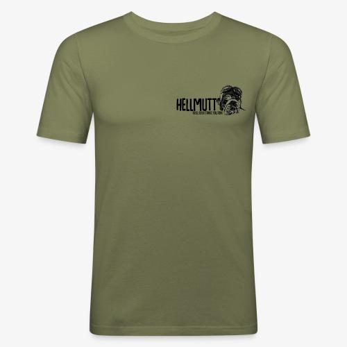HellMutt Logo Standard - Men's Slim Fit T-Shirt