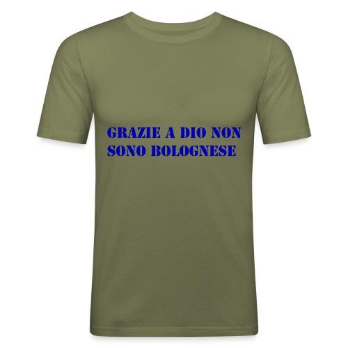 grazie a dio non sono bolognese - Maglietta aderente da uomo