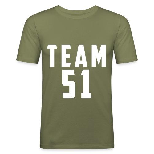 Logo team 51 modern - T-shirt près du corps Homme