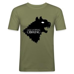 catalan spring is comming - Camiseta ajustada hombre