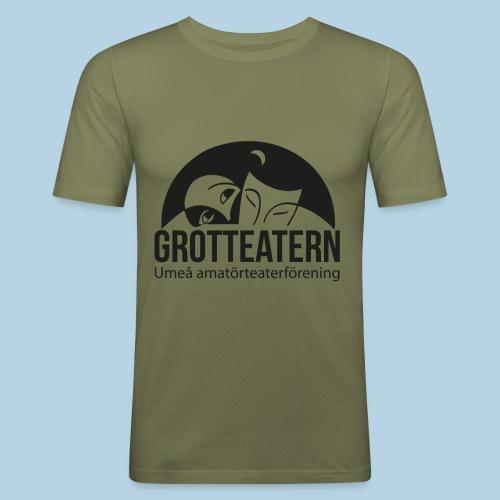 Grotteatern logo svart - Slim Fit T-shirt herr