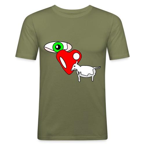 Eye luv Ewe - Men's Slim Fit T-Shirt