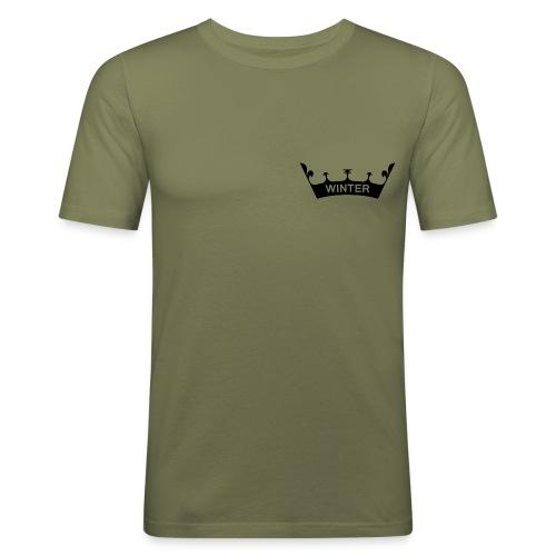 winter_crown - Männer Slim Fit T-Shirt