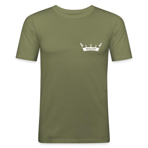 Krone Winter - Männer Slim Fit T-Shirt