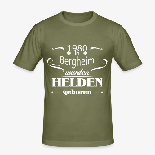 Bergheim 1980 - Männer Slim Fit T-Shirt