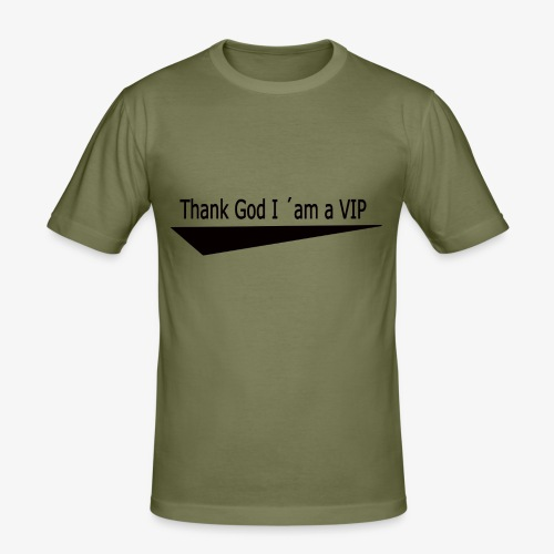 THX GOD - Männer Slim Fit T-Shirt