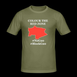 Colour the red Zone - Männer Slim Fit T-Shirt