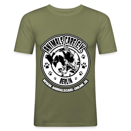Animals Care Logo - Männer Slim Fit T-Shirt