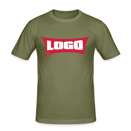 Logo Logo Red Block - Men's Slim Fit T-Shirt