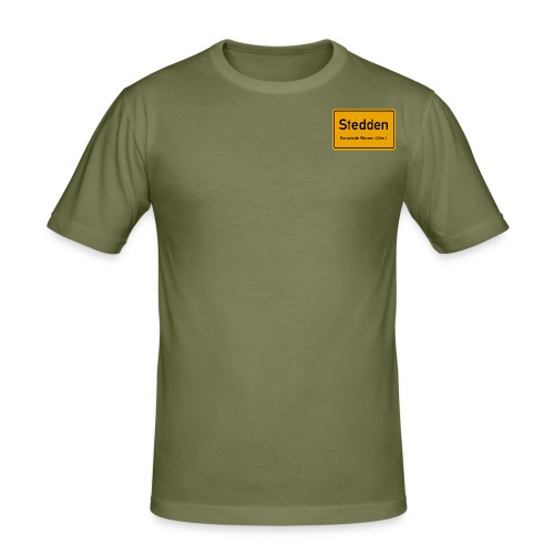 Stedden - Das Dorf am Rande der Lüneburger Heide - Männer Slim Fit T-Shirt