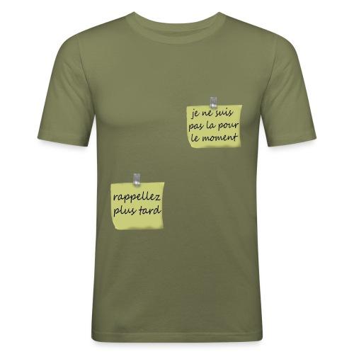 humoristique post-it - T-shirt près du corps Homme
