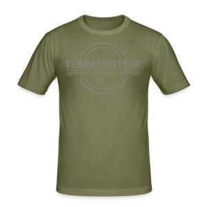 Terratrotter® | Taupe - Men's Slim Fit T-Shirt