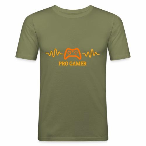 Pro Gamer Heartbeat - Männer Slim Fit T-Shirt