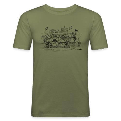 folkrace - Slim Fit T-shirt herr