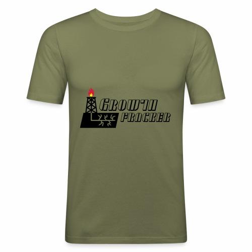 Growth Fracker - Men's Slim Fit T-Shirt