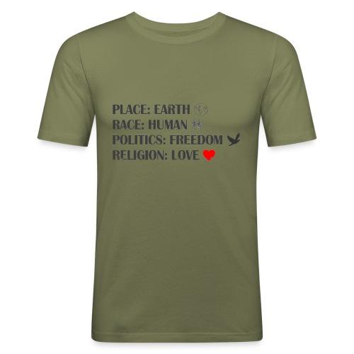 place race politics religion - Männer Slim Fit T-Shirt