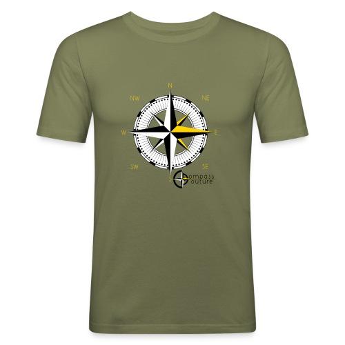 compass_logo_gold - Männer Slim Fit T-Shirt