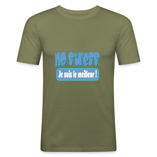 nostress - T-shirt près du corps Homme