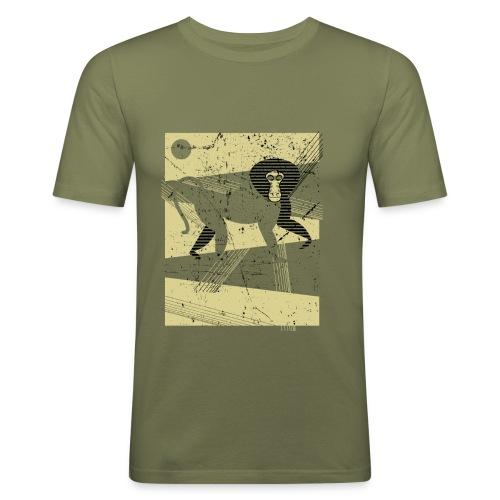 Ethiopian Baboon - Maglietta aderente da uomo