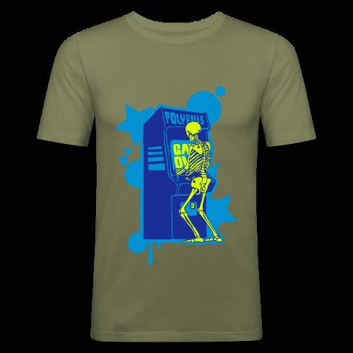 Hi-Score Blue - Obcisła koszulka męska