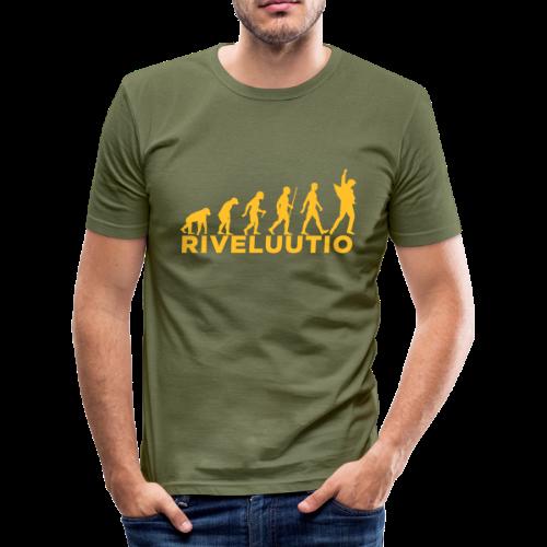 Riveluutio - Miesten tyköistuva t-paita