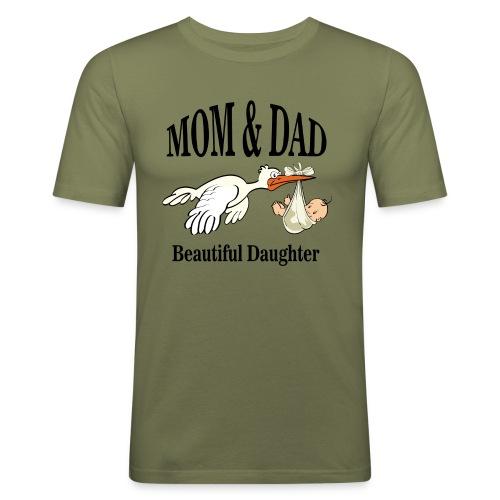 Beautiful Daughter Mom - slim fit T-shirt