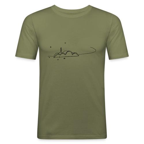 croquis_niemeyer - Camiseta ajustada hombre