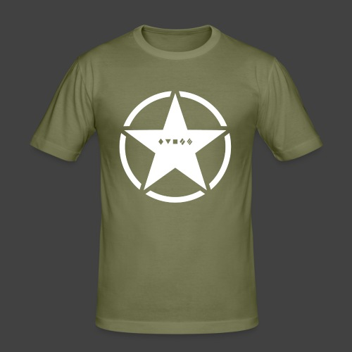 US Army Logo Panzerklassen - Männer Slim Fit T-Shirt