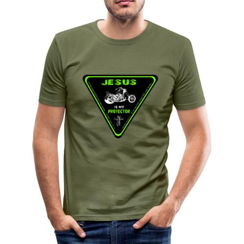 Jesus is my Protector - Männer Slim Fit T-Shirt