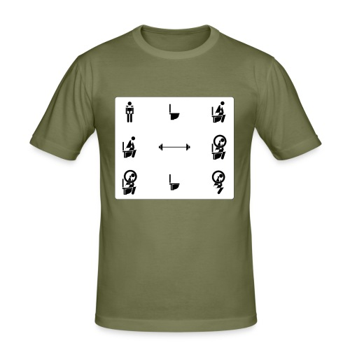 How to squat - Men's Slim Fit T-Shirt