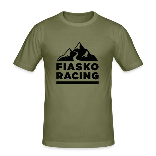 Fiasko Racing Logo Black - Männer Slim Fit T-Shirt