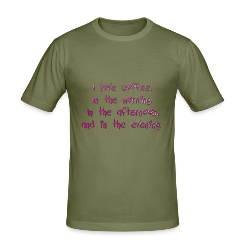 I love coffee - Men's Slim Fit T-Shirt